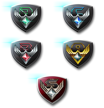 Pokken Tournament League Crests by CalicoStonewolf