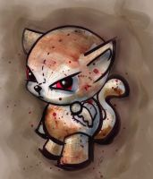 Bloody Plush Cat by Flame-Ivy