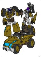 Sledge and Hammer from TFCyb by kishiaku