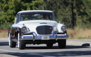 Studebaker leaving the show by finhead4ever