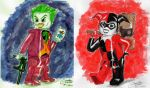 Lego Joker and Harley by CristianGarro