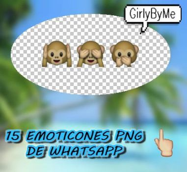 15 Emoticones Png de Whatsapp by GirlyByMe