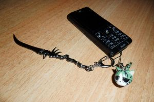 My mobile phone with some anime stuff. by XDmoney