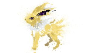 Paint Drip Jolteon by ImpersonatingPanda