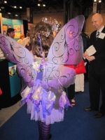 Violet fairy  - back view by glittrrgrrl
