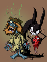 Zombie Jesus _Colored by oatmealzombies