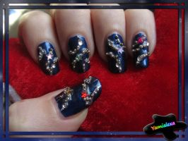 Christmas Decorations Nailart by Yamialexa