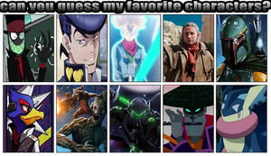 Can You Guess My Favorite Characters Meme Updated by superluffy123