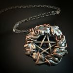 Wreath Pentacle Necklace by MoonLitCreations