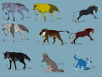 Left Over adoptables by Whitelupine