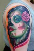 Day Of The Dead Tattoo Big Gus by CupcakeCouture4Ever