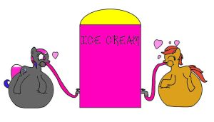 Ice Cream Lovers - Gift Request by Boman100