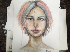 Watercolor Girl by shellanime