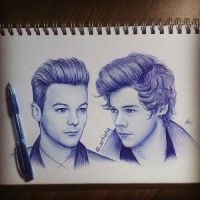 drawing of larry stylinson by larry1Dcarrotscats