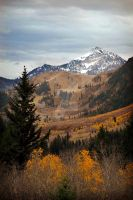 Mount Timpanogos Late Fall by houstonryan