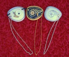 Three Steam Punk Eye Patches by merimask