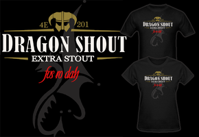Elder Scrolls Skyrim Dragon Shout Stout T Shirt by Enlightenup23