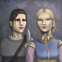 Dragon Age:Cauthrien and Anora by AlanaKai