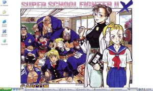 Super School Fighter II X by TakoyakiBall