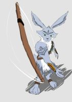 Sketch - Easter Bunny (in 'Rise of The Guardians') by Draconica5