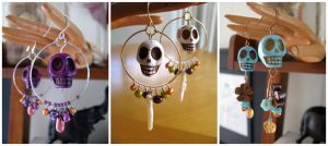 Skull earrings by lily-fox
