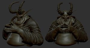 The Devil WIP 1 by panick