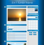 5 In 1 Tumblr Theme by wilde-media