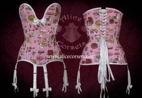 Cupcakes corset by Alice-Corsets