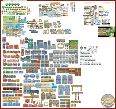 Tileset - One - Pokemon Dawn by The-Red-eX