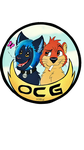 OtterCatGaming logo! - commission by Sharkeen