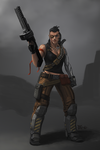 Female Mercenary Riva by Buashei
