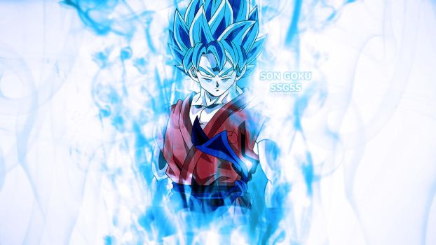 Son Goku SSGSS Abstract Smokes by isaldalvizar
