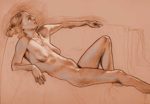 Lifedrawing in pencil by bearmantooth