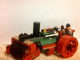 Lego Steam Roller by Rockyrailroad578