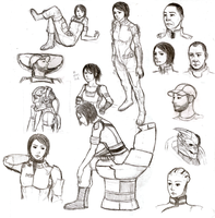 Mass Effect Sketches by minijuuku