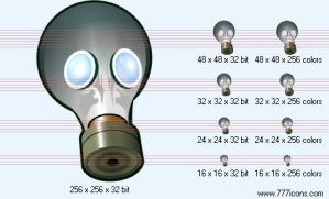 Respirator Icon by science-icons
