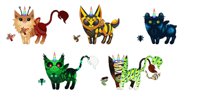 Unicat Adopts - Bugs [3/5 OPEN] by Quapon