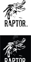 Raptor Logo - black and white by flipx3ro