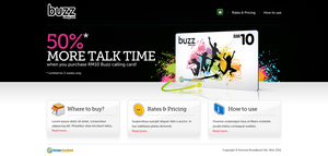 buzz calling card microsite by kodomodo