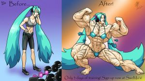 Miku Before and After by GrandMasterLucilious