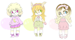 Sonic Adoptables 5 (Set Price) (Open) by PorcelainAdoptables