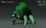 (Jan. 2017 CDC) Day 18 - Mossy Scuttler by GenoTheCreeper