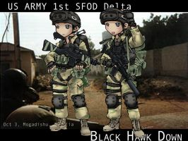 Old drawing Delta snipers by lazyseal8
