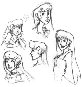 Rosella sketches by zombiesoup