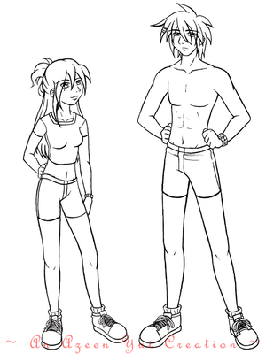 Jo and Tobei LINE ART **THIS IS