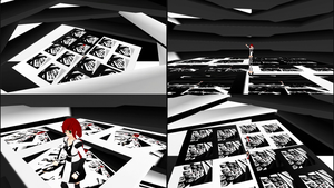 MMD Black White stage by mbarnesMMD
