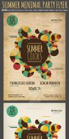 Summer Colors Minimal Party Flyer Template by Hotpindesigns