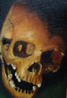 Skull oil painting by jrunin