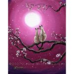 Siamese Cats in Spring Blossom by zenbreeze