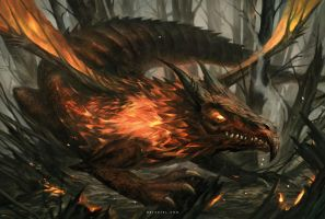 Fire Dragon by Nele-Diel